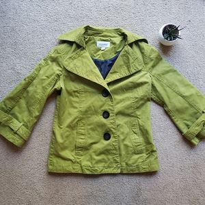 Moss green 3/4 sleeve small light jacket